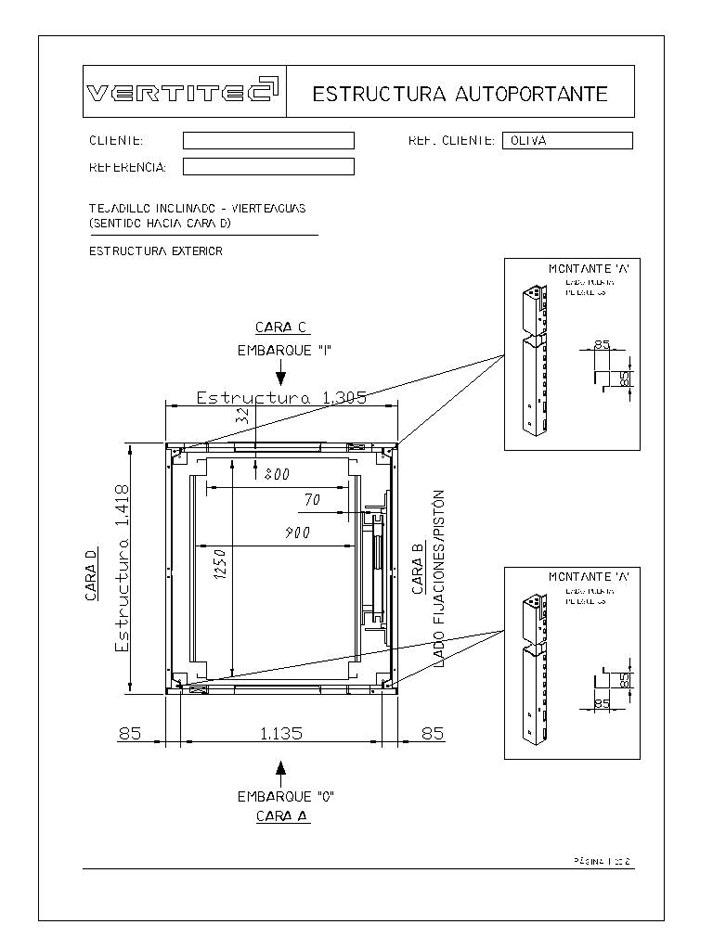 Ejemplo instalaci n ascensor unifamiliar adosadoa a la fachada - Poner ascensor ...